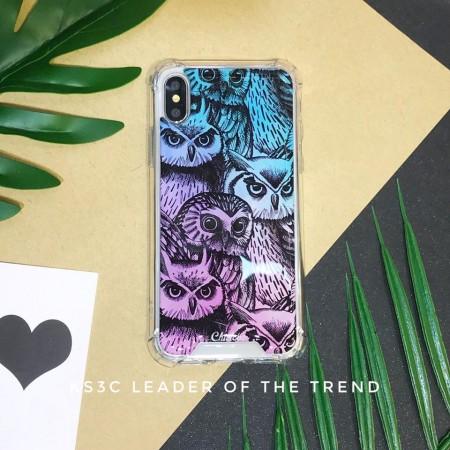 【599免運】Chiclobe奇可 貓頭鷹樣式 反重力 四角防摔殼 iphone各型號 SE2手機殼