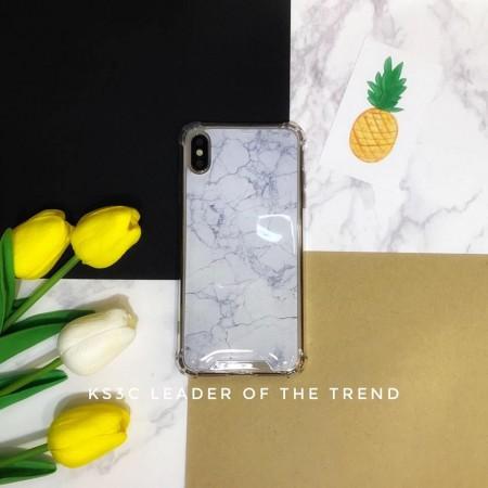 【599免運】Chiclobe奇可 仿真白色大理石 反重力四角防摔殼 iphone各型號 SE2手機殼