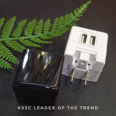 【599免運】通海Nexson 雙孔USB旅充頭 實測雙孔3.4A