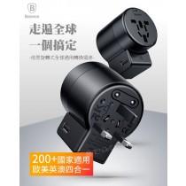 【599免運】Baseus倍思 萬國充 旋轉式全球通用 6A 轉換插座雙USB
