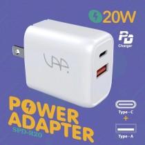 【599免運】SAP雙孔 PD QC 20w 充電頭 蘋果電源供應器 快充頭 旅充頭 保固一年