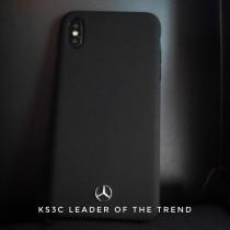 【599免運】BENZ手機殼 先創總代理 黑色 硅膠 賓士 IphoneXsmax/XR