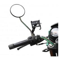 【599免運】捷優比 車行熱銷 後照鏡手機架 防盜 鋁合金 機車手機支架 安裝簡易 電動車