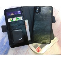 【599免運】艾強伯 IPHONEX 真皮磁扣皮套 背蓋 可分離 商務型 防摔殼